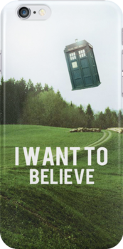 I Want To Believe TARDIS by archerluck