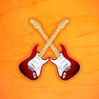 Double Red american fender Stratocaster v1 ipad by goodmusic
