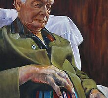 ANZAC Portrait Series - Keith Bowly by Wayne Dowsent