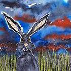 HARE IN GRASS by dbarker