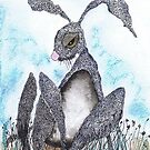SLEEPY HARE by Hares & Critters