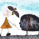 WALKING THE DOG by Hares & Critters