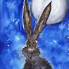 HARE IN THE MOONLIGHT by Hares & Critters