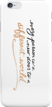 Every person is a new door to a different world (saying) -Iphone case  by sullat04