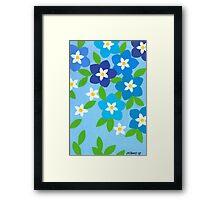 SPRINGTIME BLUE WONDER Framed Print