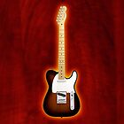fender telecaster sunbrast v2 iphone case by goodmusic