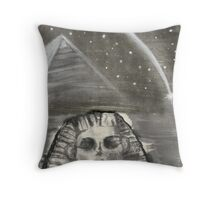 Sphinx and Pyramid I Throw Pillow