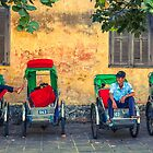 Three Cyclo Riders in Hoi An by Zati