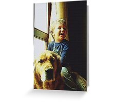 Blue and Tommy Greeting Card