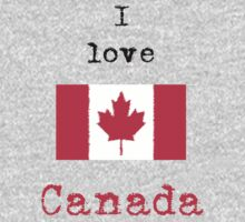 I Love Canada Vintage Style by wlartdesigns
