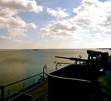 View out to sea from aboard the USS Alabama, Mobile by ADayToRemember