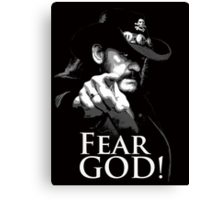 Fear God Canvas Print