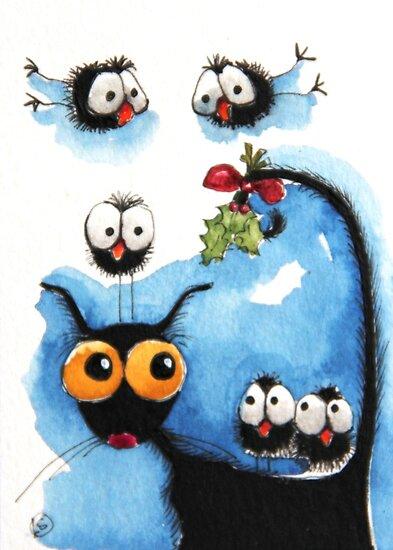 A Mistletoe tale by StressieCat