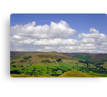 Across the Valley to Grindslow Knoll  Canvas Print