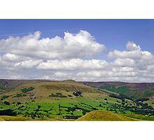 Across the Valley to Grindslow Knoll  Photographic Print