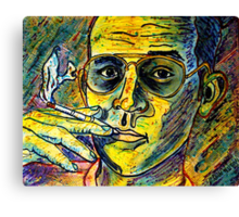 Turn Pro, Hunter S. Thompson tribute Canvas Print