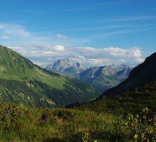 Scenery near Furkajoch, Austria by Claudio Del Luongo