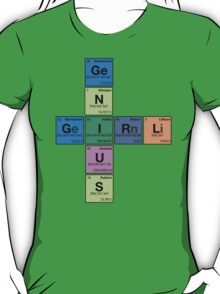 GIRL GENIUS! Periodic Table Scrabble T-Shirt