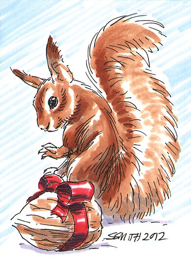Holiday Critters - Red Squirrel by Stephanie Smith