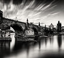 Charles bridge in the windy evening by Lubos Bruha