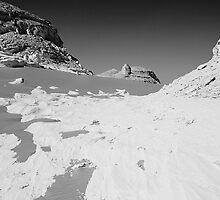 White Desert Egypt BW by Nigel Fletcher-Jones