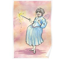 Retro Vintage Styled Fairy Godmother Poster