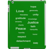 Love Peace Justice - Green iPad Case/Skin