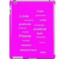 Love Peace Justice - Fuchsia iPad Case/Skin