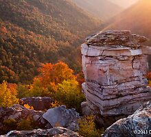 Sunset at Lindy Point Overlook, Blackwater Falls State Park by Deb Snelson
