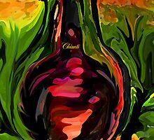 YOU ME AND CHIANTI IN THE GARDEN by Sherri     Nicholas