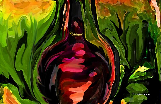 YOU ME AND CHIANTI IN THE GARDEN by Sherri     Nicholas