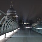 Millennium Bridge looking towards St Paul's by Andre Rickerby