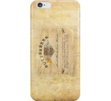 Butter Beer Labels iPhone Case/Skin