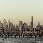 melbourne skyline by dan throsby