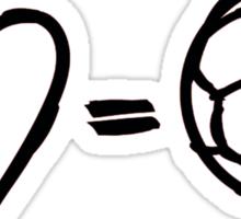 love equals football Sticker