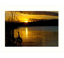 River Murray Sun Set Art Print