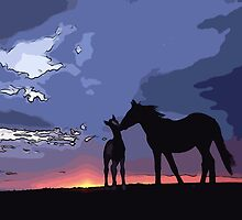 Horses in Love by Adam Asar