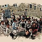 afghan school children by Adam Asar