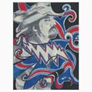 """PigPen -Red White & Blue"" by Kevin J Cooper"