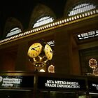 Grand Central Station clock  by Debra Kurs