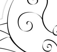 Spiral butterfly Sticker