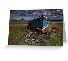 Moody Skies over Lindisfarne Greeting Card