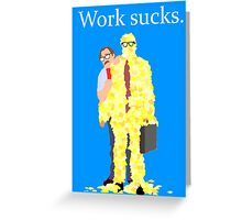 Minimalist movie poster: Office Space Greeting Card