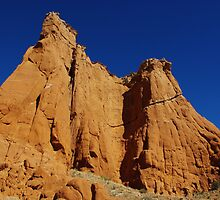 Kodachrome rocks under blue sky, Utah by Claudio Del Luongo