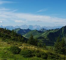 Mountain scenery near Portlahorn, Austria by Claudio Del Luongo