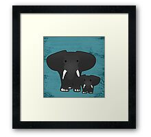 Elephant with a baby Framed Print