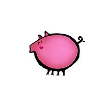 Cute pink baby piggy by CatchyLittleArt