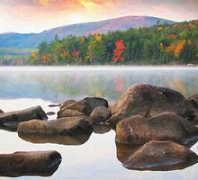 Eagle lake in acadia national park by Adam Asar