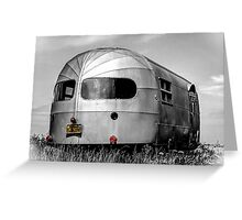 Classic Airstream Caravan.  Greeting Card