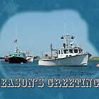 Season's Greetings Holiday Card - Boats in Peaceful Harbor by MotherNature2